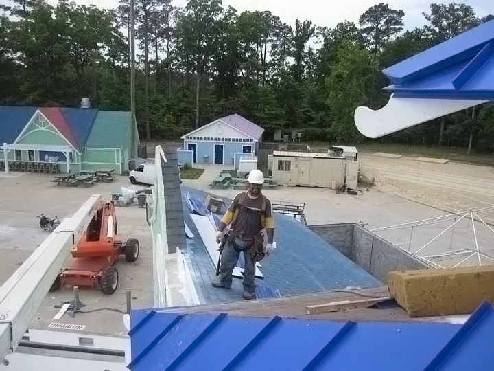 Good SB Roofing In Action At The Ocean Breeze Water Park In Virginia Beach
