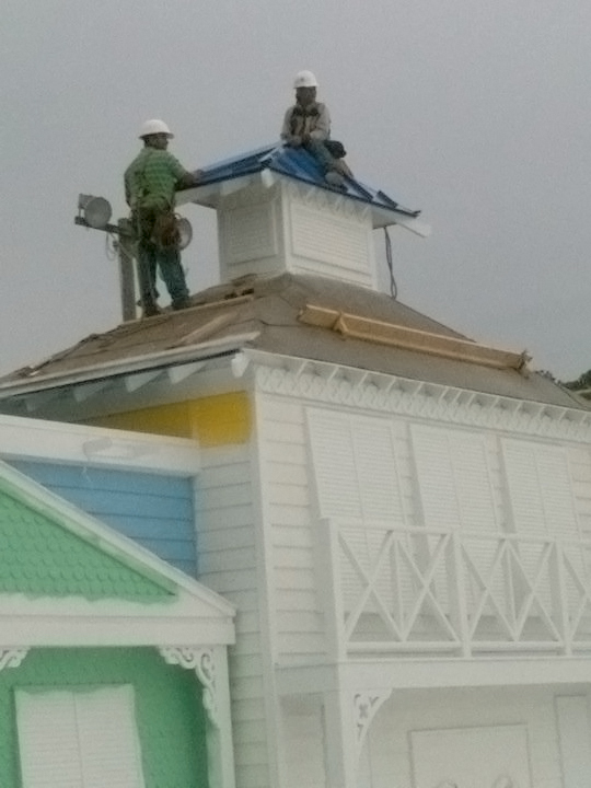 ... SB Roofing In Action At The Ocean Breeze Water Park In Virginia Beach